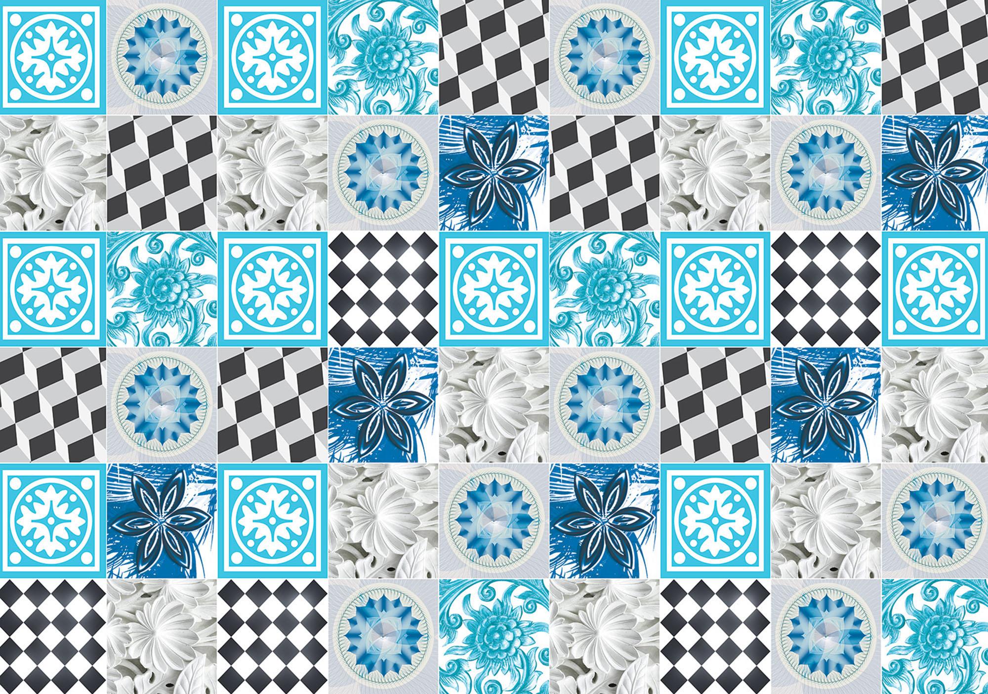 ForWall. Blaue Fliesen Mosaik