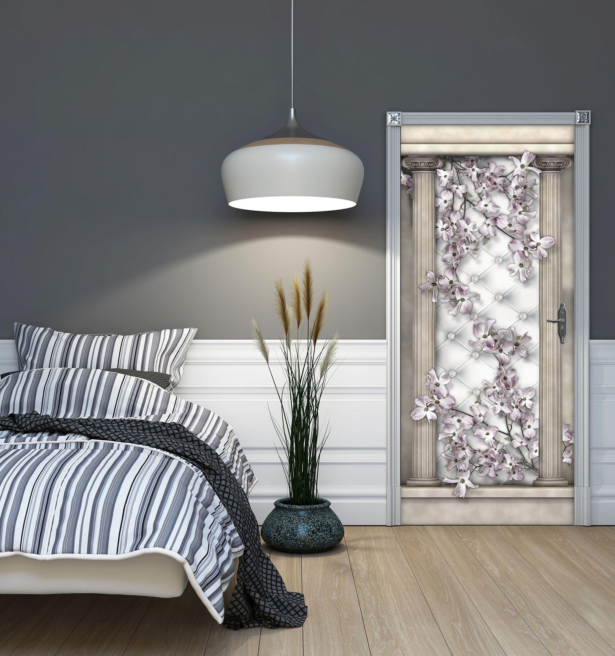 t r fototapete mit bl ten und s ulen weltderbilder. Black Bedroom Furniture Sets. Home Design Ideas