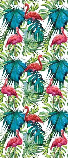 Picture of Flamingos on the leaves
