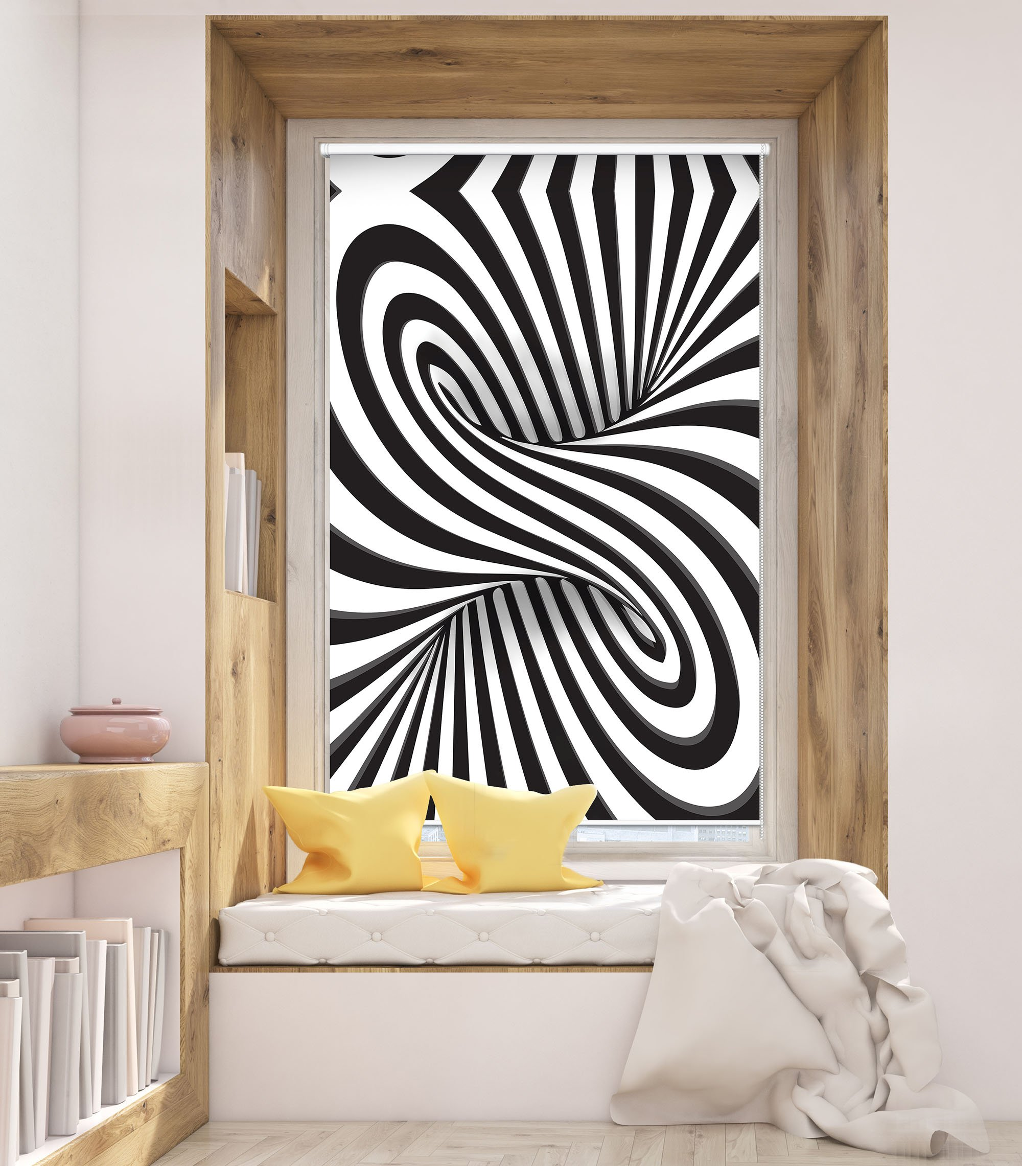 3d Black And White Swirl