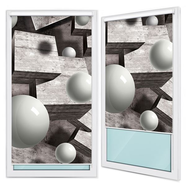 Picture of 3D Gray Geometric Figures