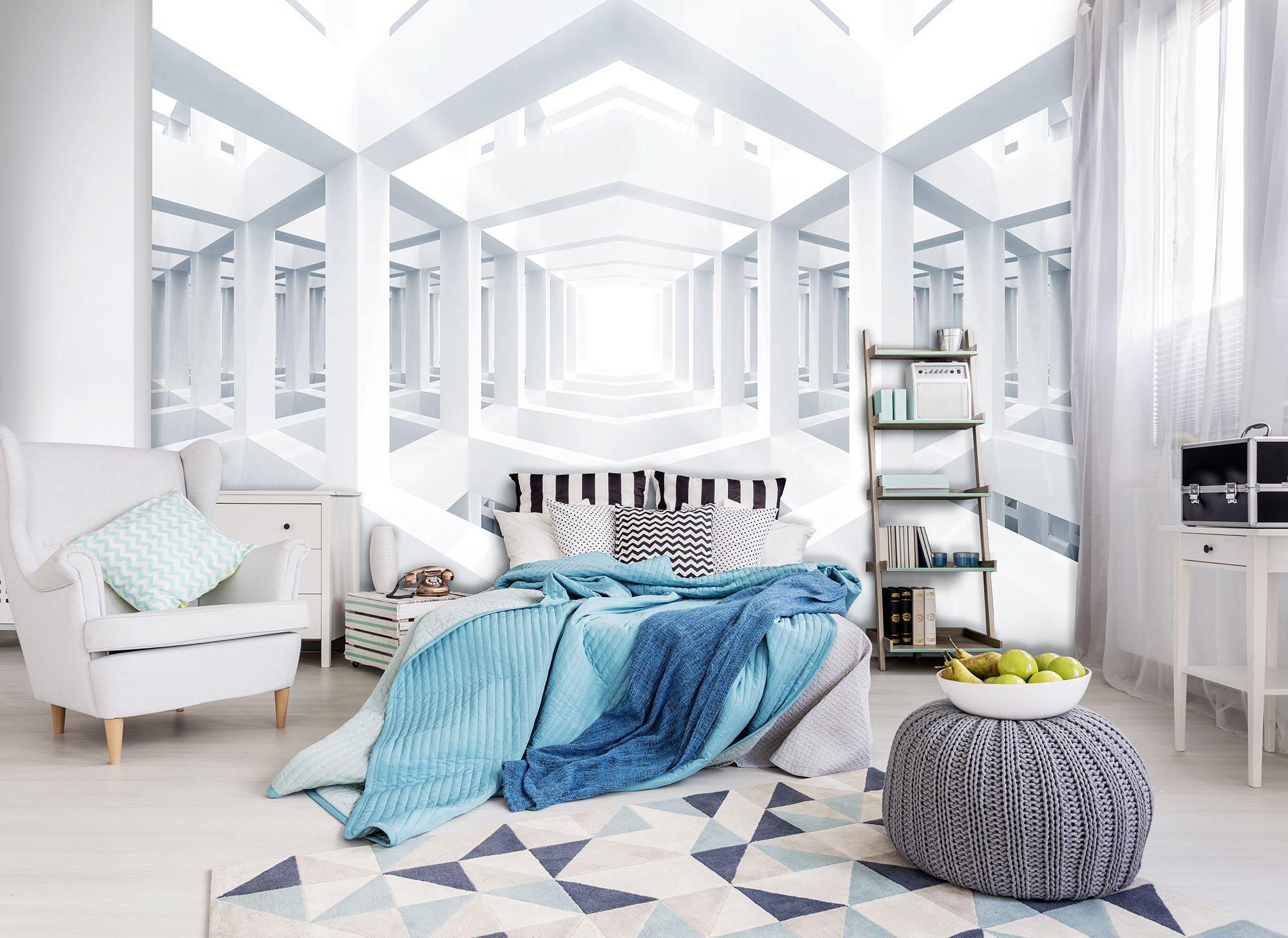 xxl fototapete mit wei em spiegelraum weltderbilder. Black Bedroom Furniture Sets. Home Design Ideas