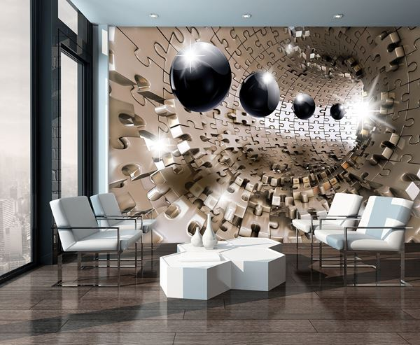 Bild von 3D Puzzle-Tunnel mit Kugeln