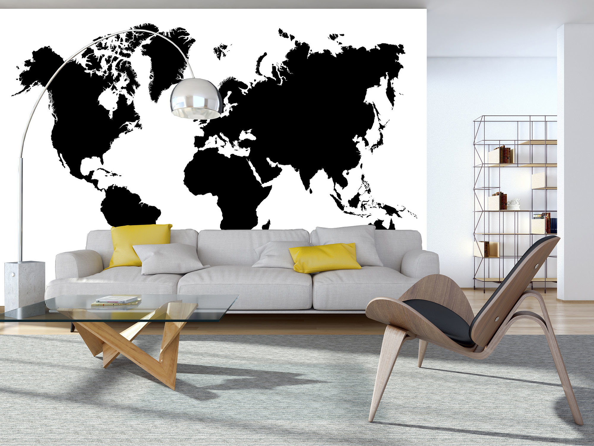fototapete weltkarte schwarz wei weltderbilder. Black Bedroom Furniture Sets. Home Design Ideas