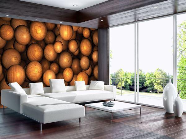 Obrazek Brązowe drewniane kule
