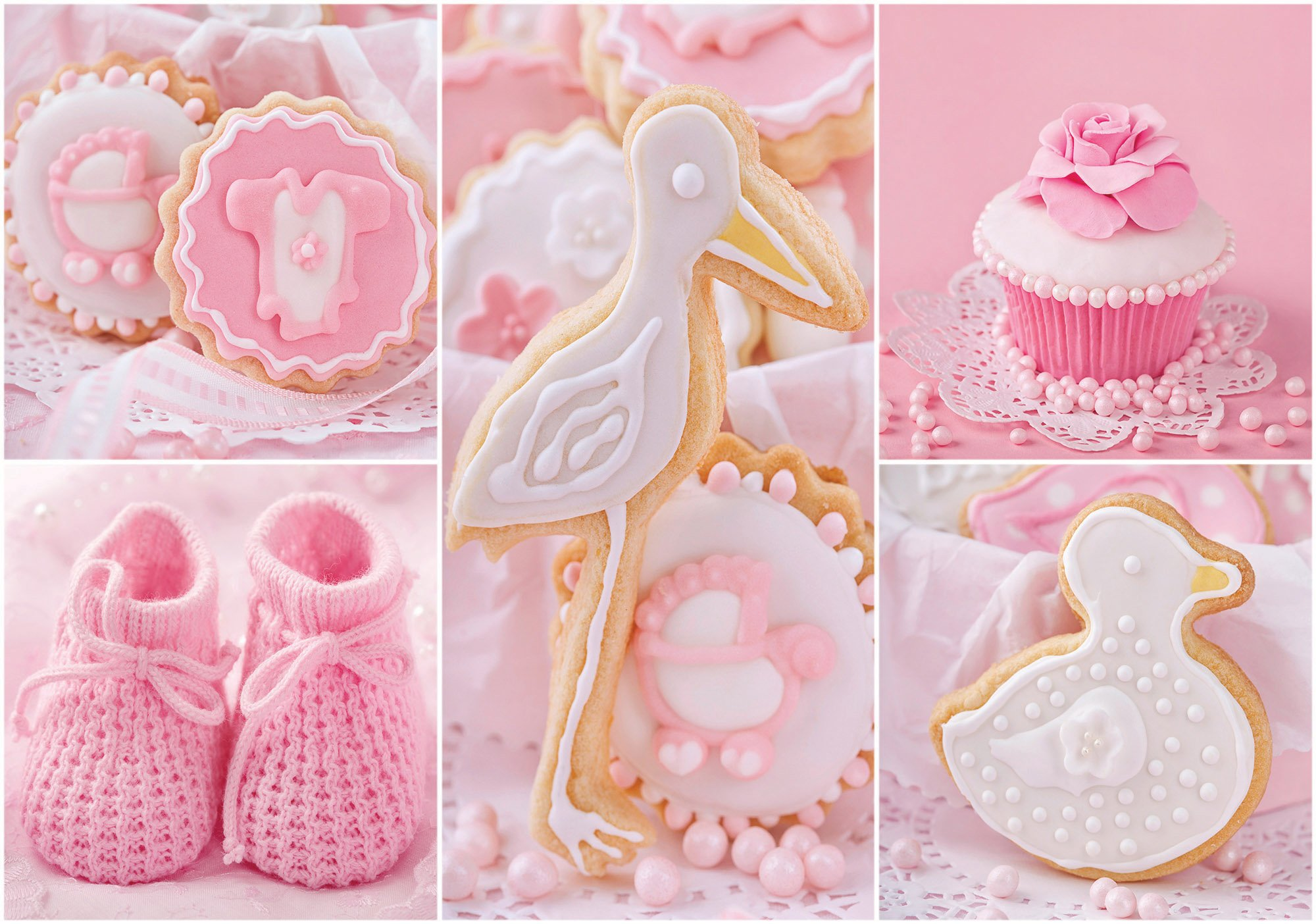 low priced ec8ca 1080a Babyschuhe und rosa Cupcakes - Forwall