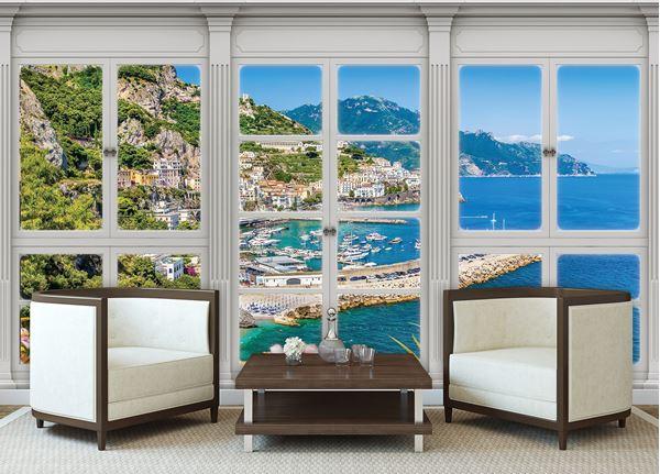 Obrazek Widok z okna na błękitne morze