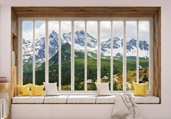 Obrazek Widok z okna na góry