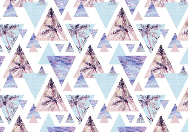 Picture of Nature Design on Triangles