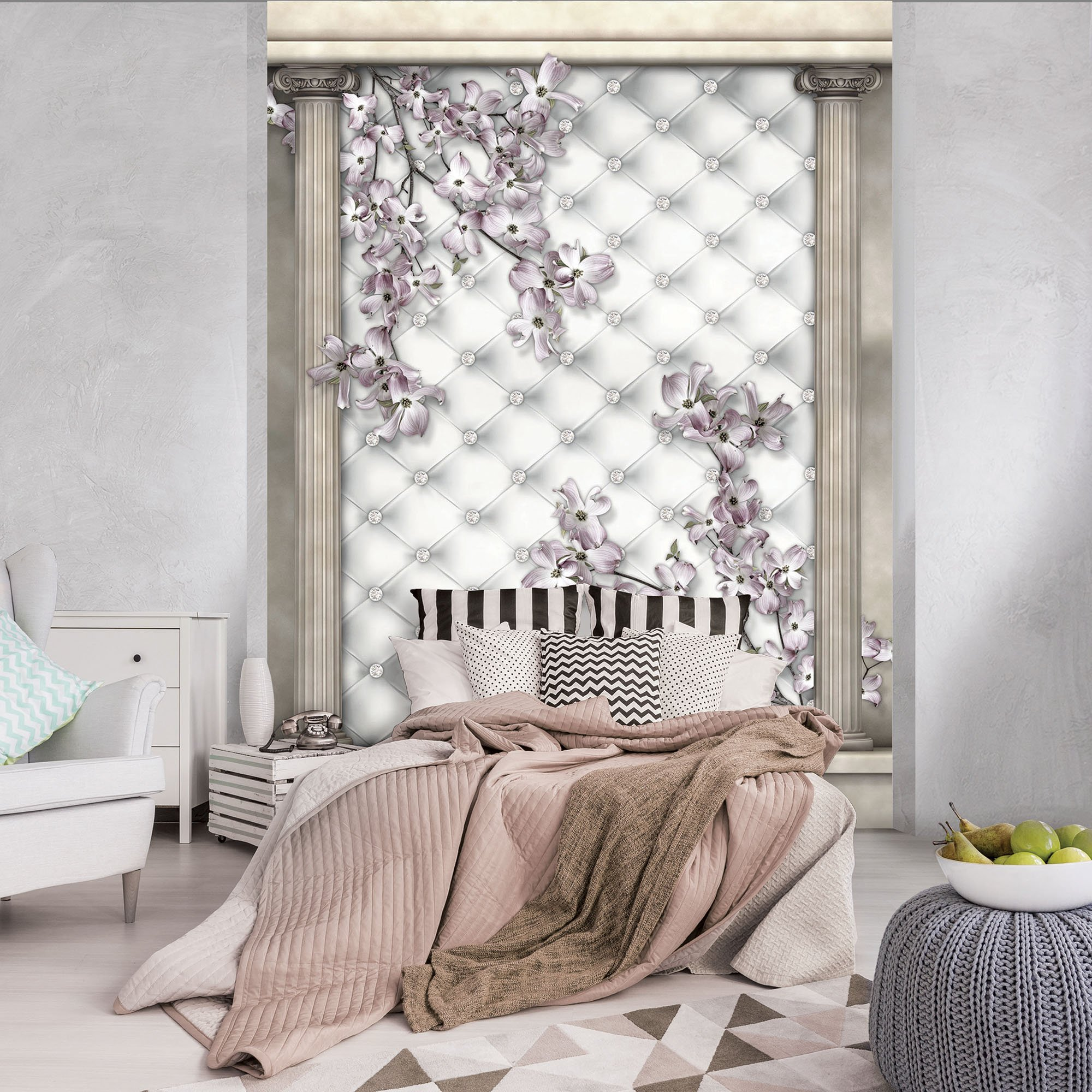 fototapete mit bl ten und s ulen weltderbilder. Black Bedroom Furniture Sets. Home Design Ideas