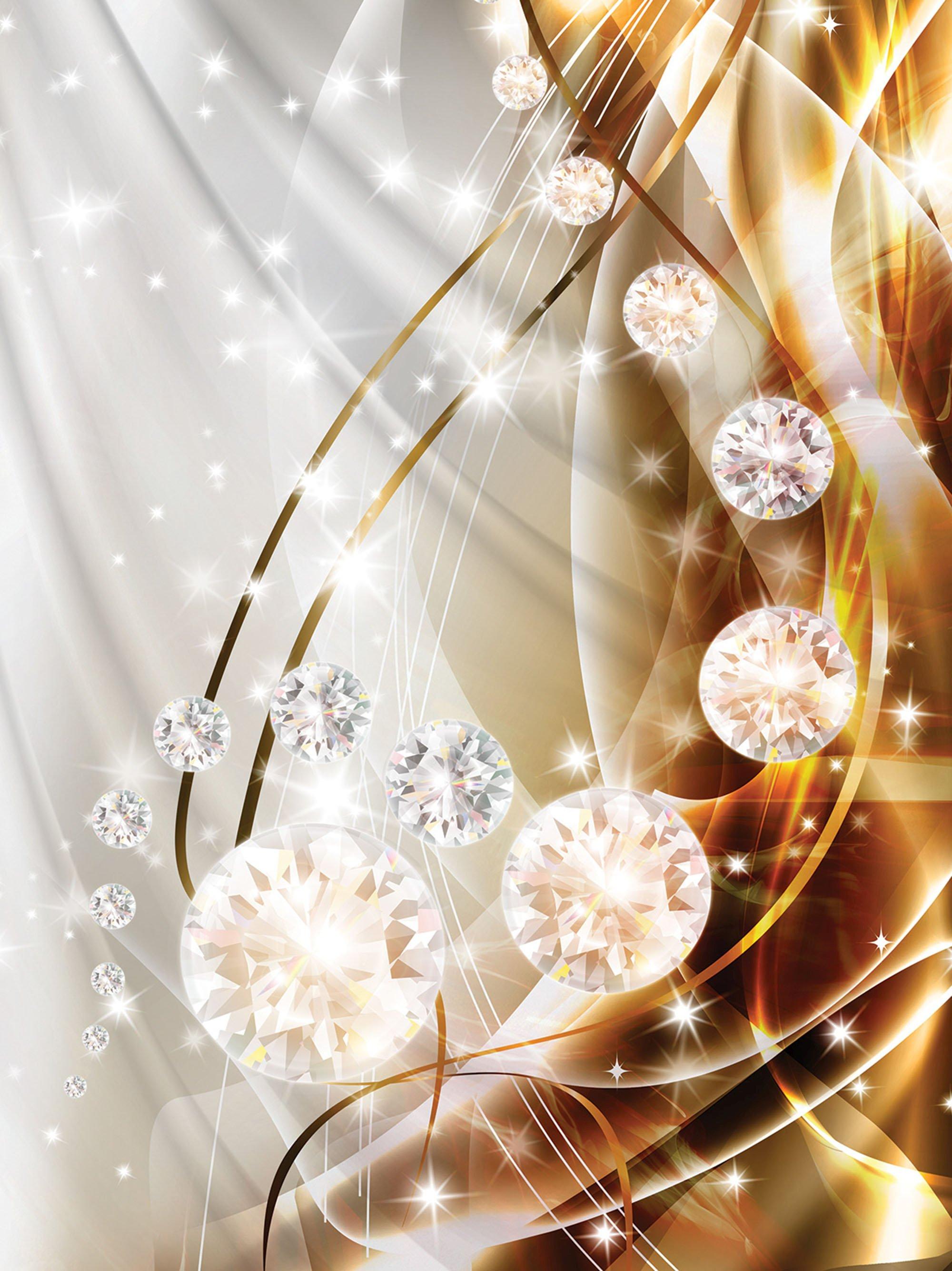 holzbild mit diamanten silber gold weltderbilder. Black Bedroom Furniture Sets. Home Design Ideas