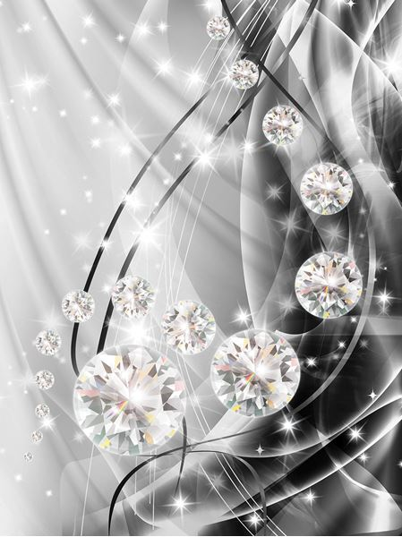 Picture of Abstract, Diamonds, and Silver