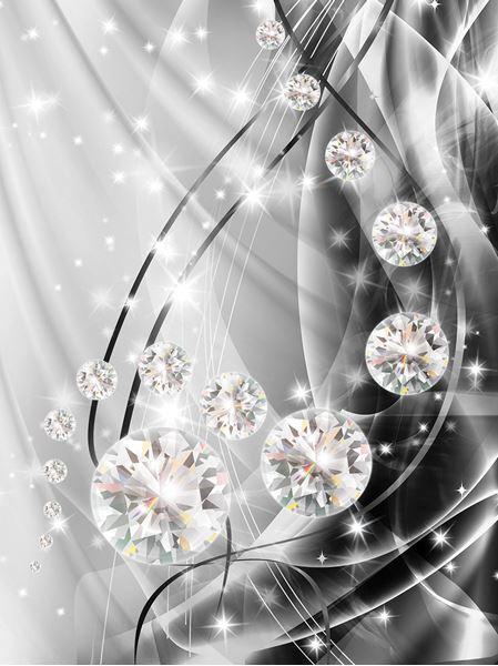 Obrazek Abstrakcja, diamenty, srebro
