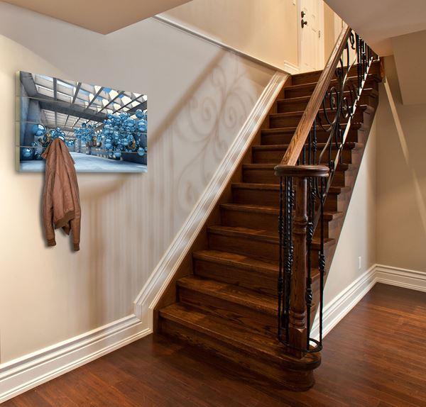 Obrazek Niebieski modernizm 3D
