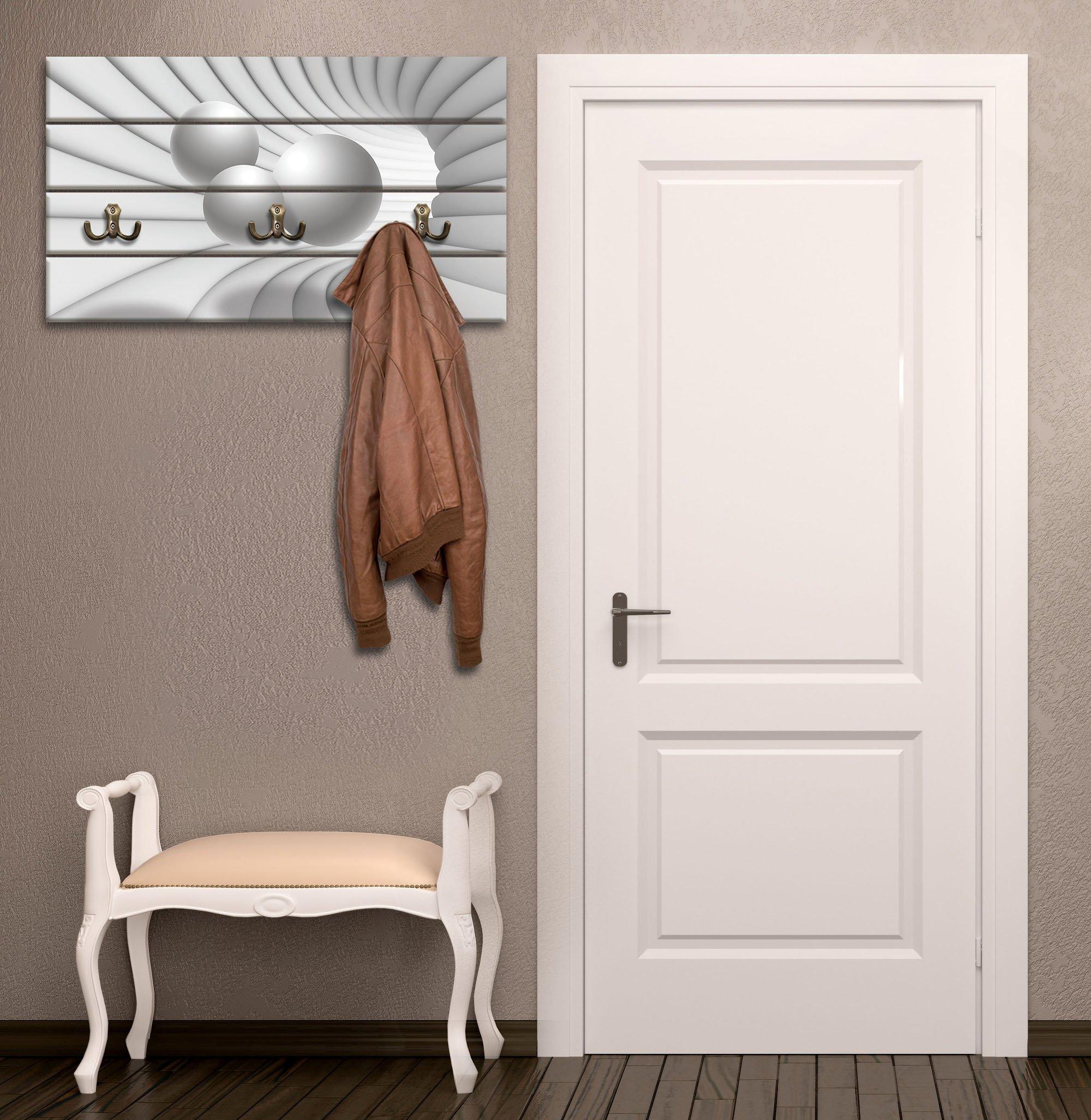 garderobe mit 3d tunnel mit wei en spheren. Black Bedroom Furniture Sets. Home Design Ideas