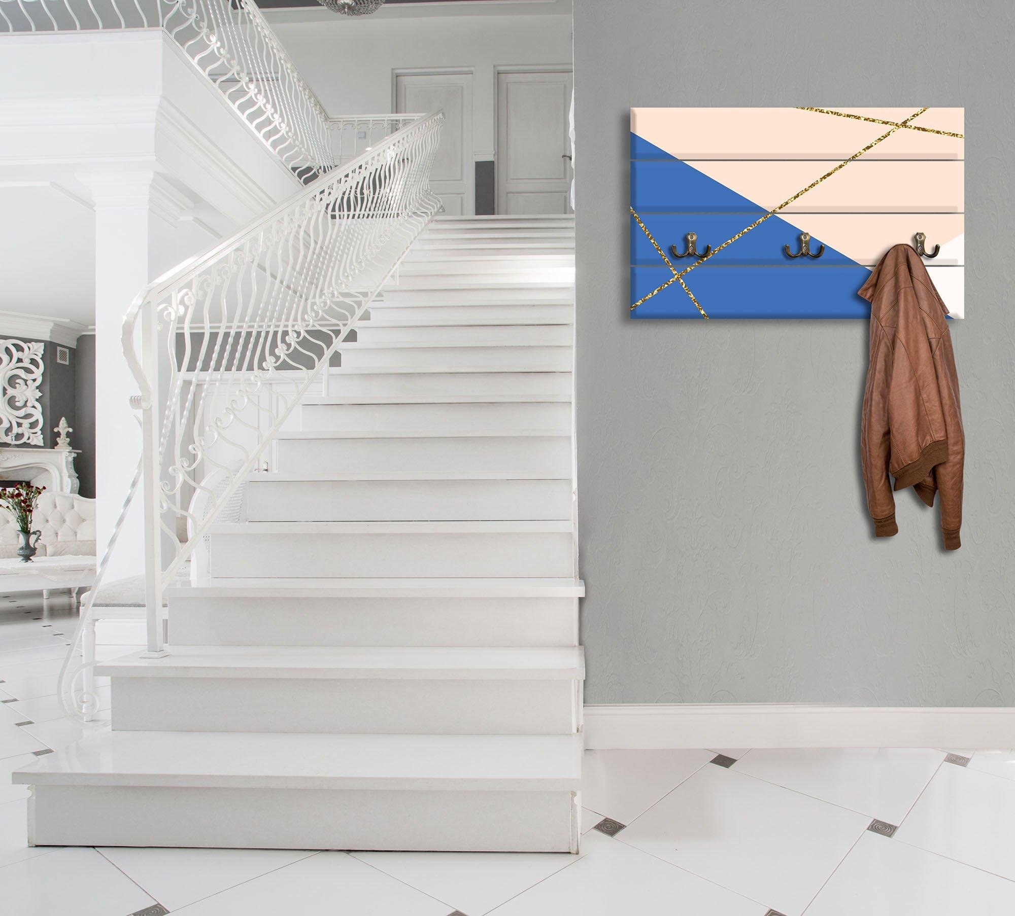 garderobe mit abstrakten fl chen beige blau. Black Bedroom Furniture Sets. Home Design Ideas