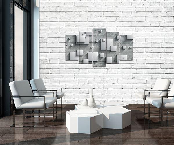 Obrazek Abstrakcja kwadratów na betonie