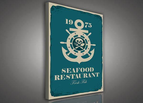 Obrazek Szyld - restauracja z owocami morza