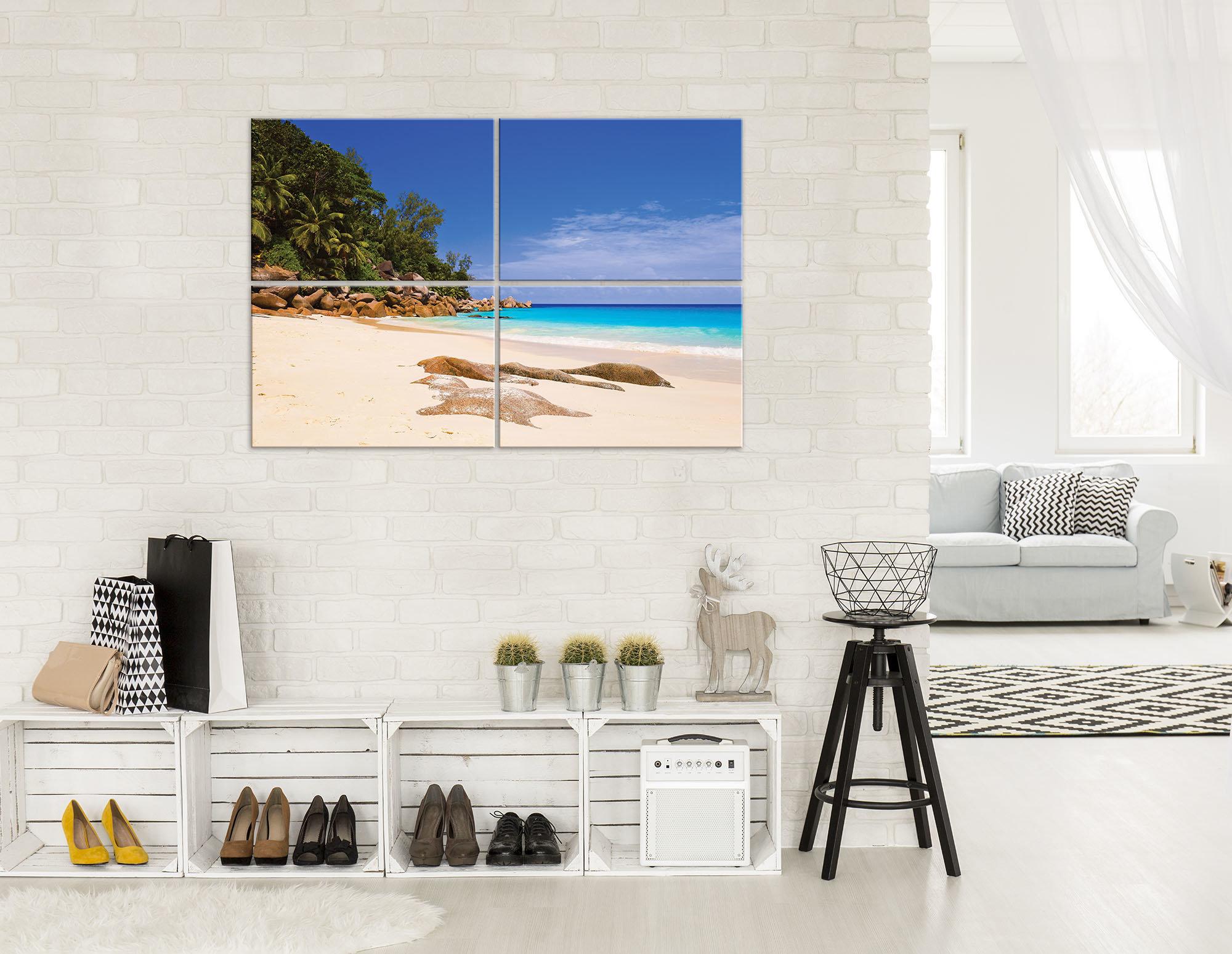 leinwandbild mit tropischen strand weltderbilder. Black Bedroom Furniture Sets. Home Design Ideas