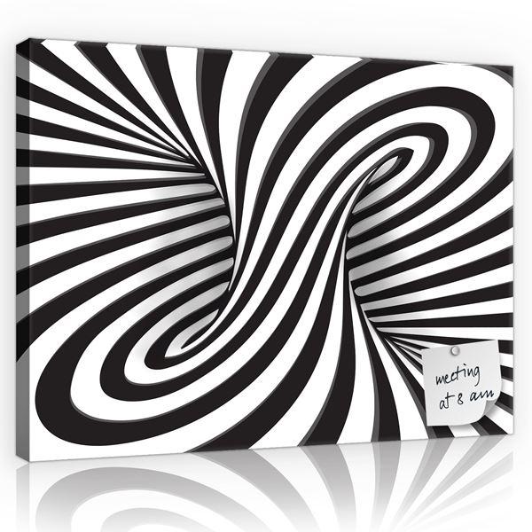 Obrazek Czarno-białe tornado 3D