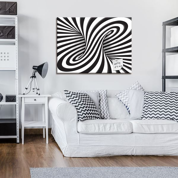 Picture of 3D Black and White Swirl