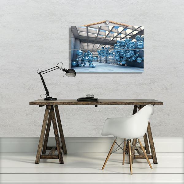 Bild von 3D Blaue Moderne