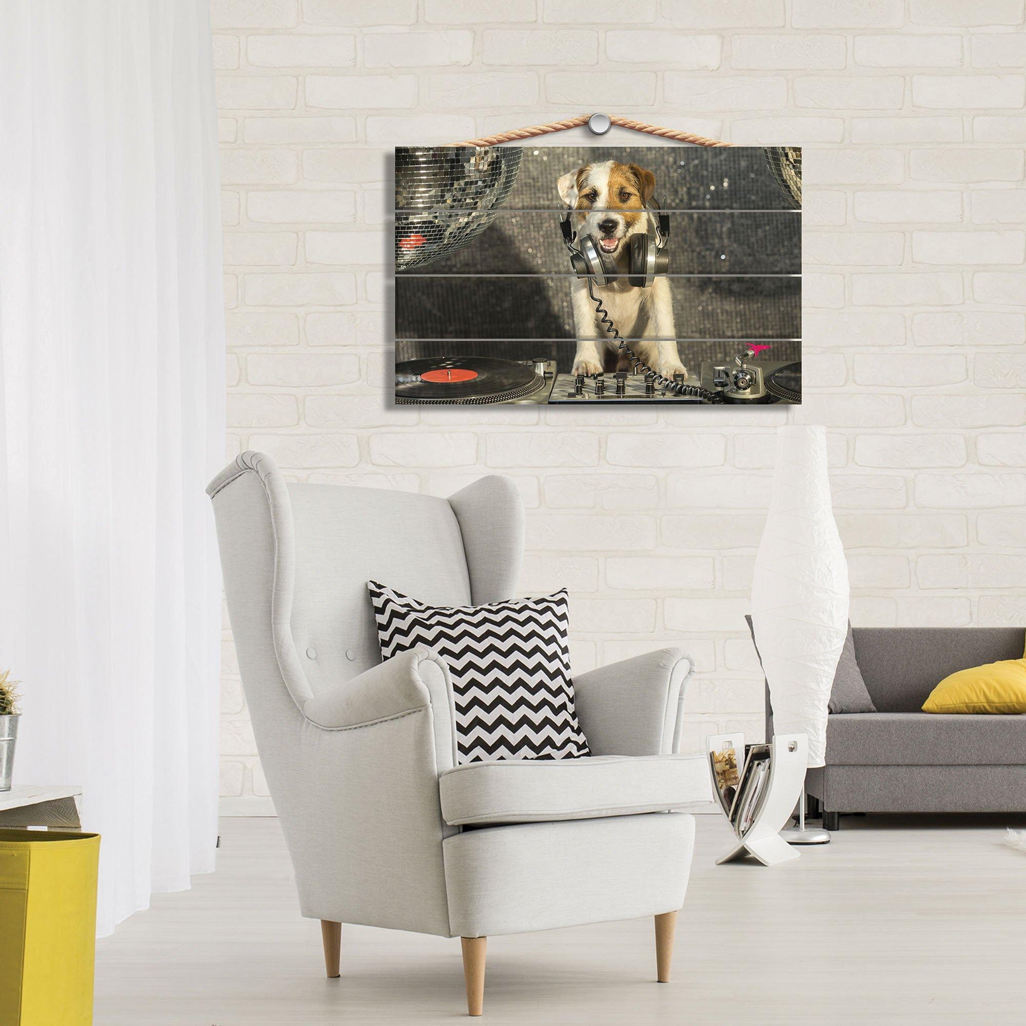 dj disco hund mit kopfh rer. Black Bedroom Furniture Sets. Home Design Ideas