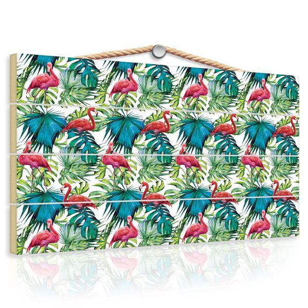 Bild von Flamingos auf den Blättern