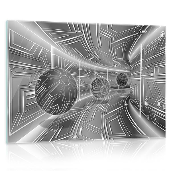 Picture of 3D Gray Tunnel with Spheres