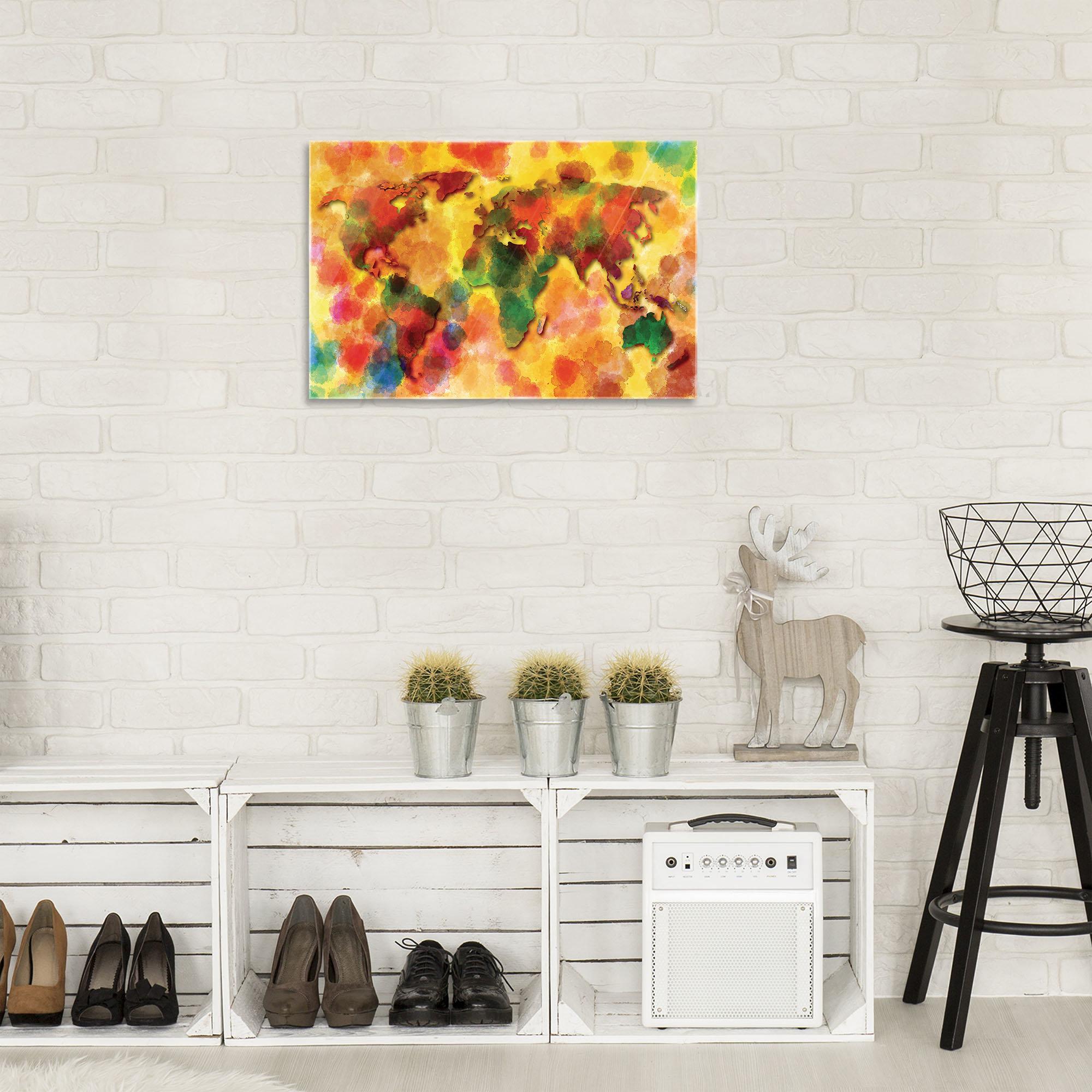 bunte weltkarte. Black Bedroom Furniture Sets. Home Design Ideas
