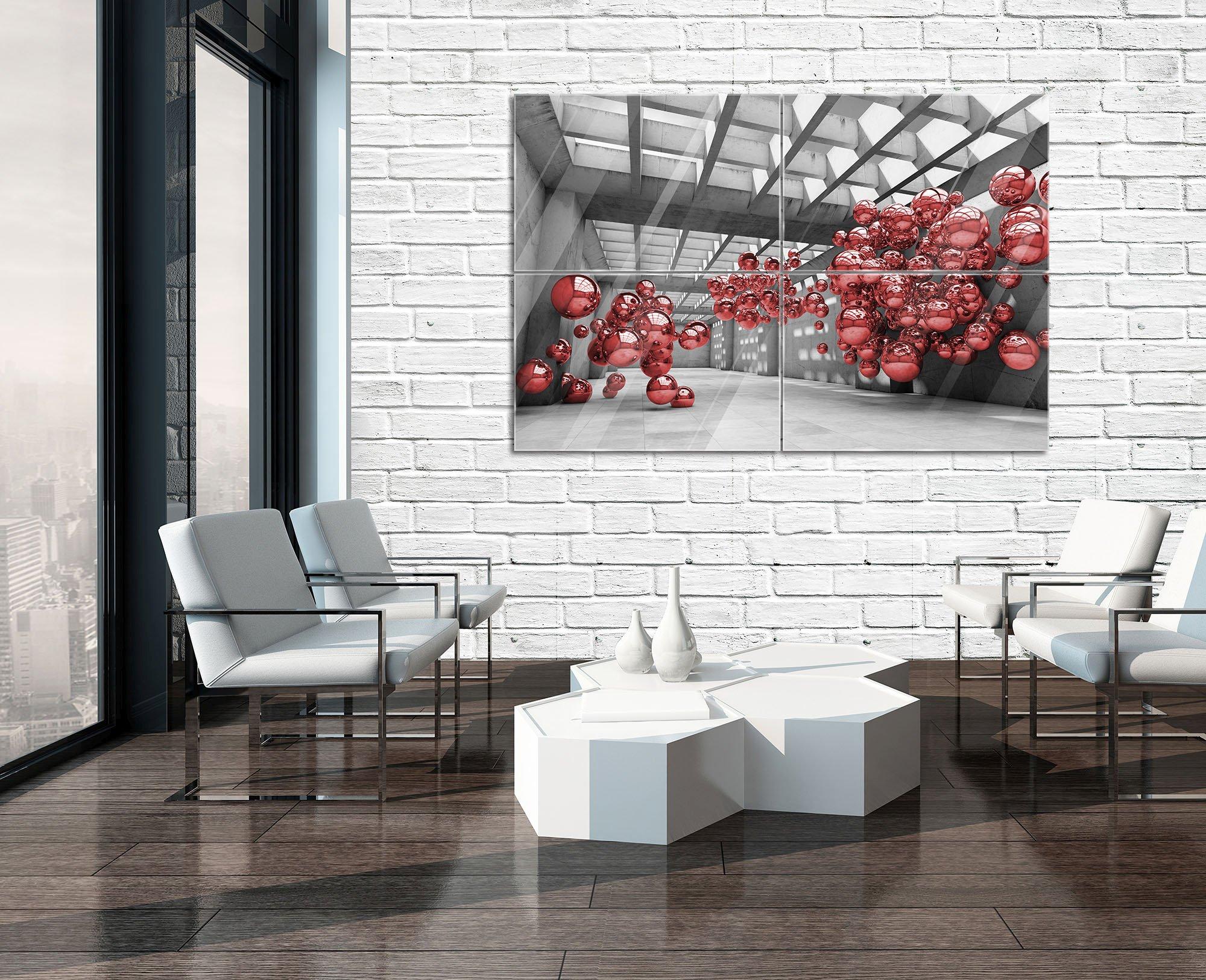 rot modernistischen 3d zimmer. Black Bedroom Furniture Sets. Home Design Ideas