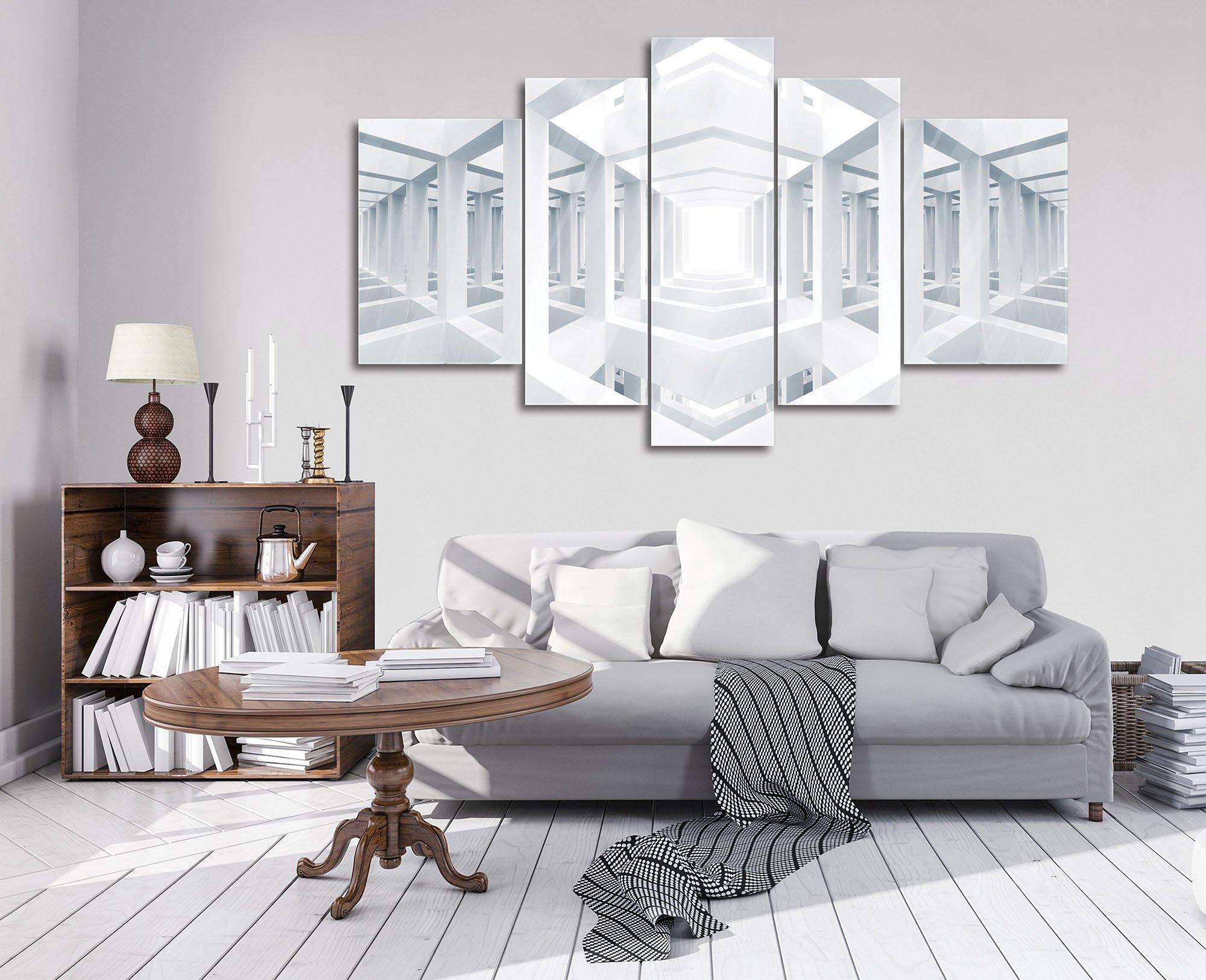 glasbild mit wei em spiegelraum weltderbilder. Black Bedroom Furniture Sets. Home Design Ideas