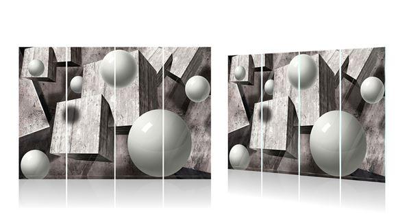 Obrazek Szare figury geometryczne 3D