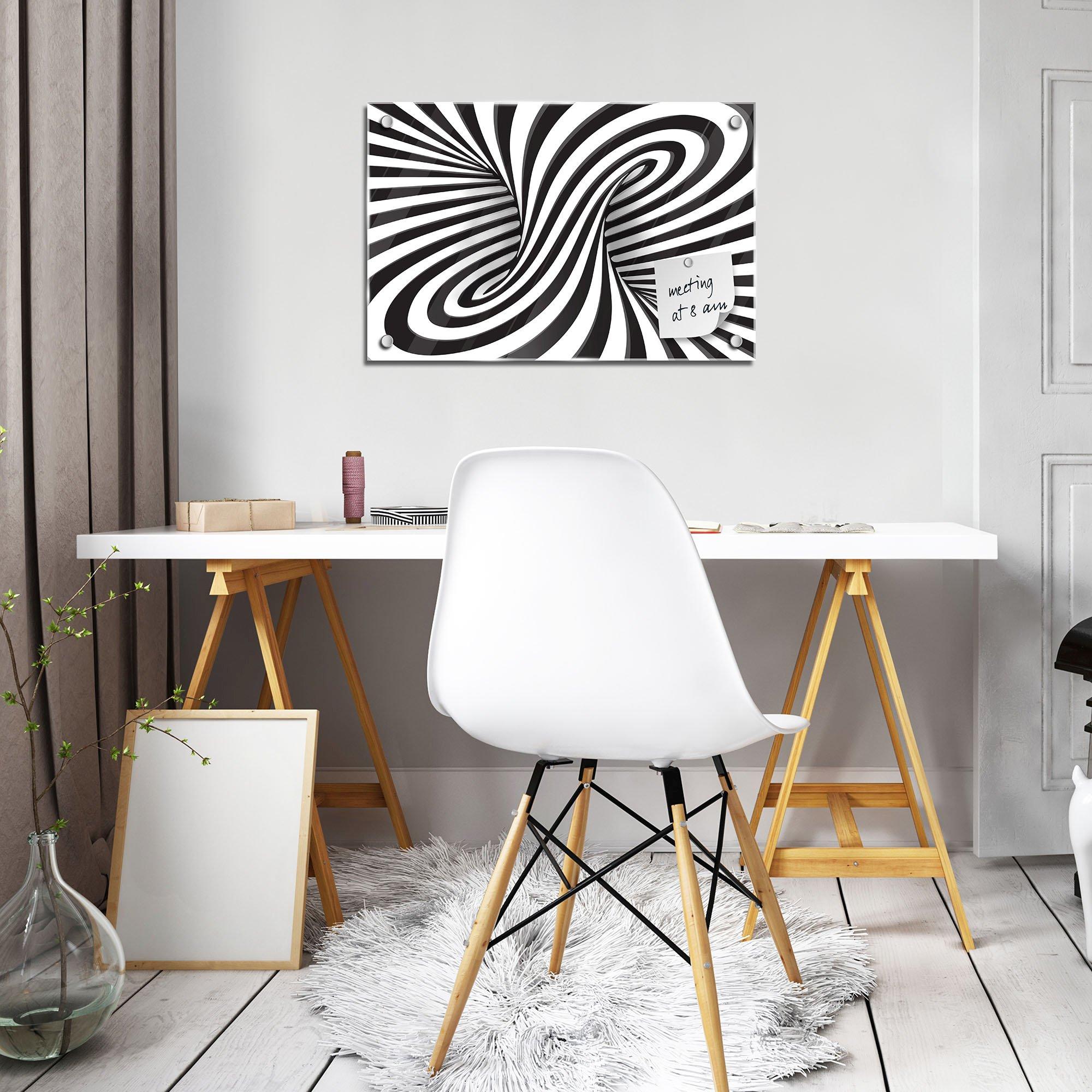 glas magnettafel mit 3d wirbel. Black Bedroom Furniture Sets. Home Design Ideas