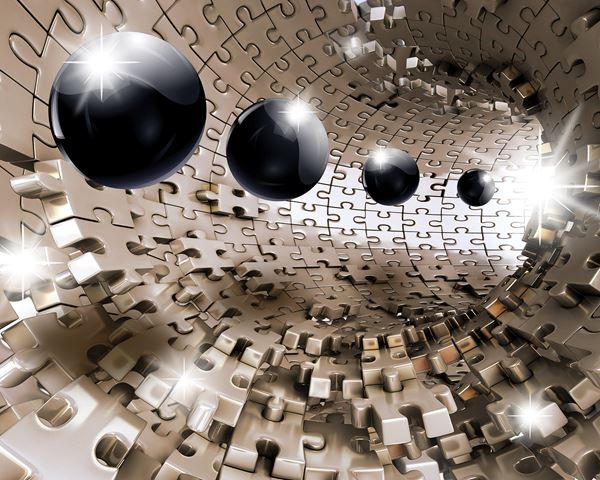 Picture of 3D Puzzle Tunnel with Spheres
