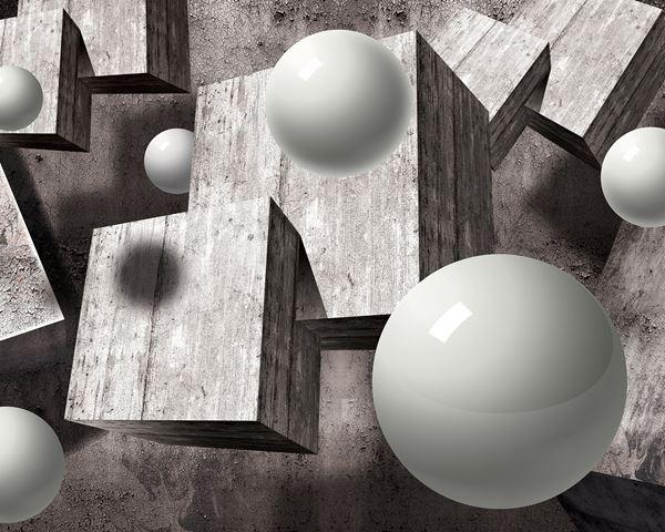 Bild von 3D Graue Geometrische Figuren