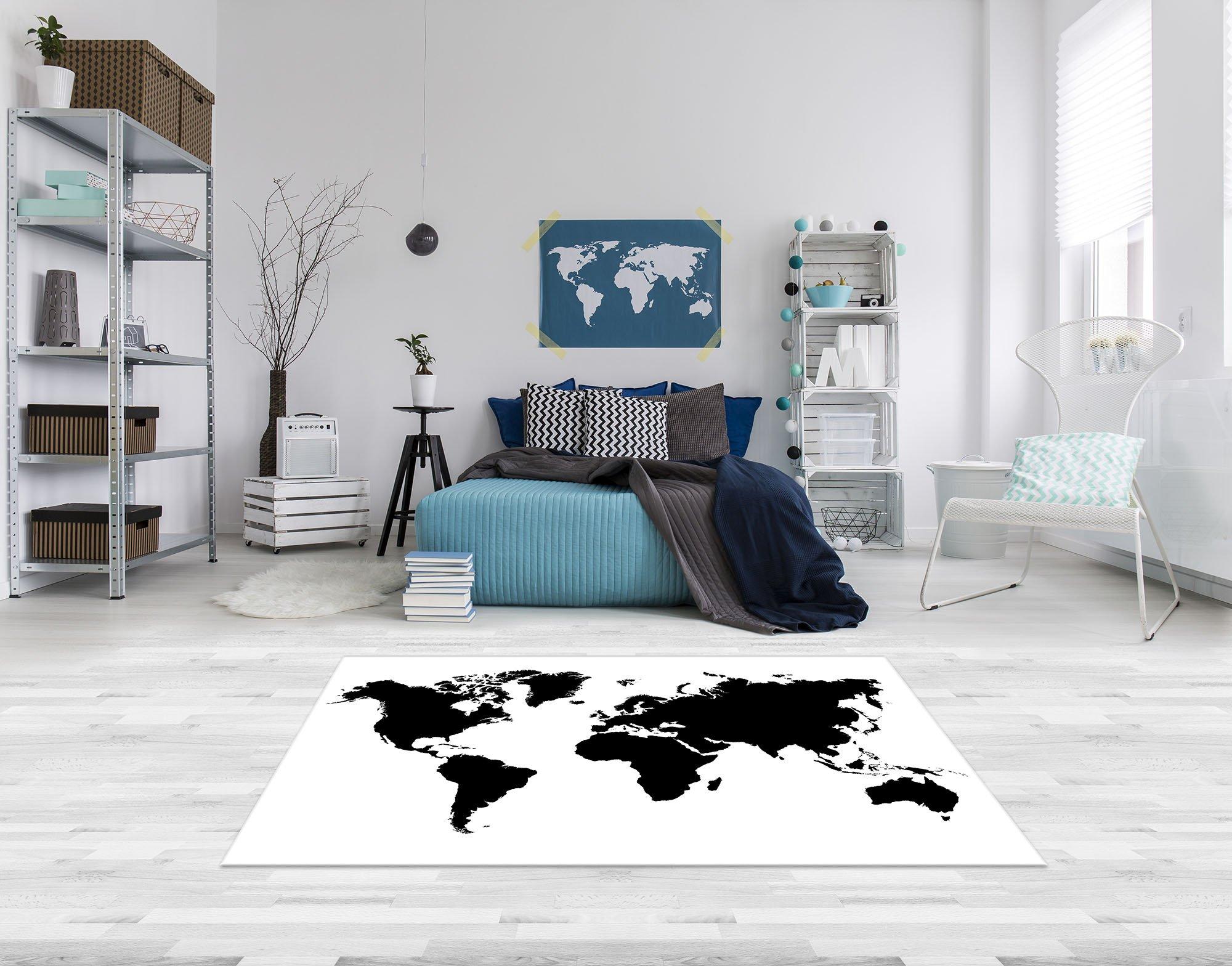 schwarz wei weltkarte forwall. Black Bedroom Furniture Sets. Home Design Ideas