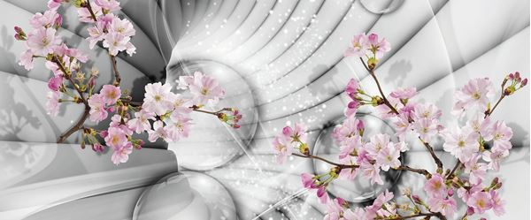 Picture of 3D Tunnel with Flowers