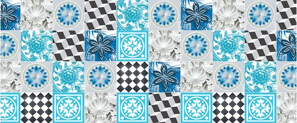 Picture of Blue Tiles Mosaic
