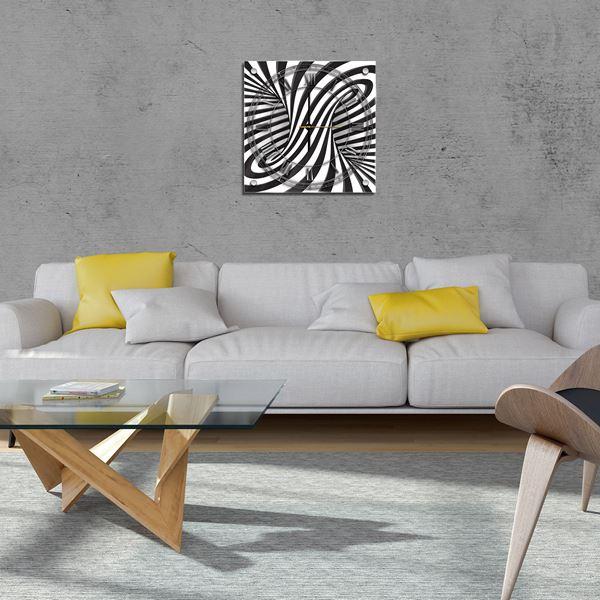 Bild von 3D-Schwarz-Weiss-Wirbel