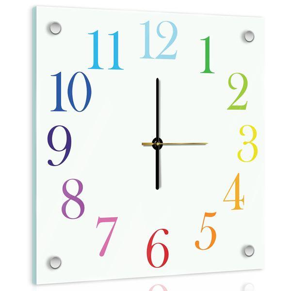 Obrazek Zegary na szkle G7 (40 x 40 cm)